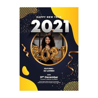 Nieuwjaar 2021 poster sjabloon