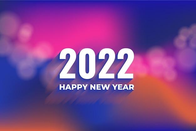 Nieuwjaar 2022 achtergrond met kleurovergang vervagen