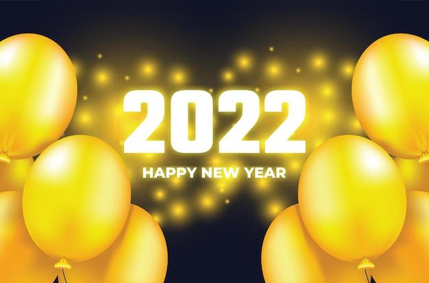 Nieuwjaar 2022 ballon achtergrond