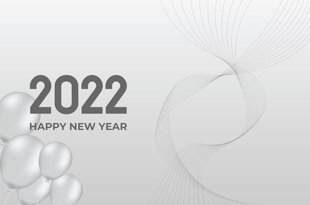 Nieuwjaar 2022 grijze achtergrond