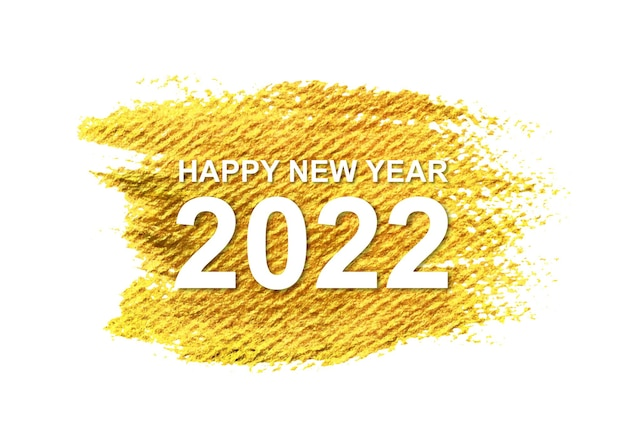 Nieuwjaar 2022 met gouden penseelstreek