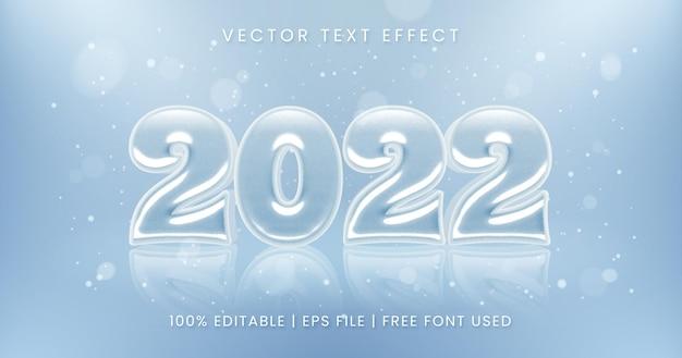 Nieuwjaar 2022 tekst winter stijl bewerkbaar teksteffect