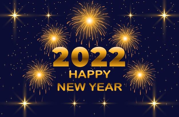 Nieuwjaar 2022 vuurwerk achtergrond