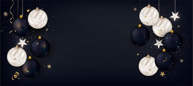 Nieuwjaar achtergrond met kerstversiering