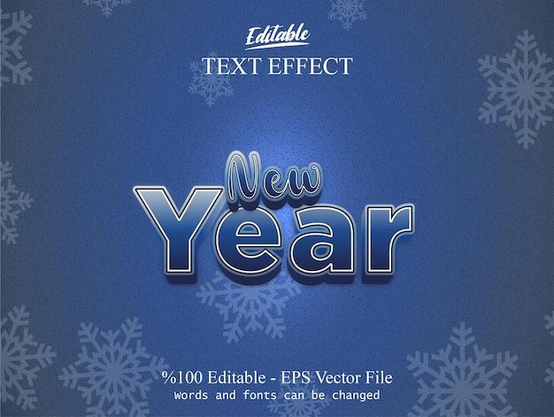 Nieuwjaar bewerkbaar teksteffect
