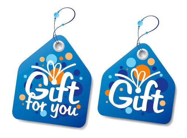 Nieuwjaar cadeau-etiketten of tags instellen
