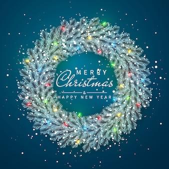 Nieuwjaar en kerstkrans