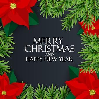 Nieuwjaar en merry christmas achtergrond