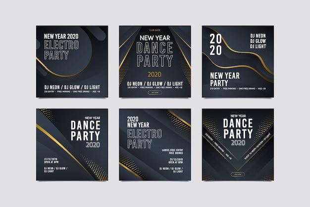 Nieuwjaar instagram post assortiment
