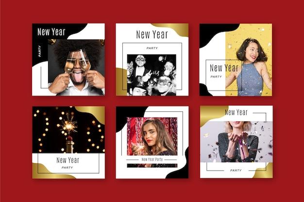 Nieuwjaar instagram post instellen