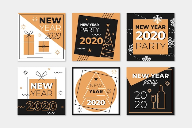 Nieuwjaar instagram postcollectie 2020