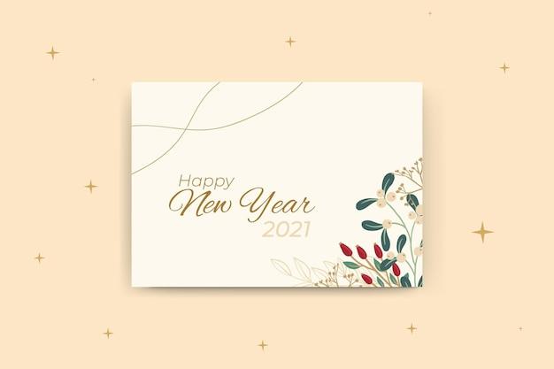 Nieuwjaar kaartsjabloon