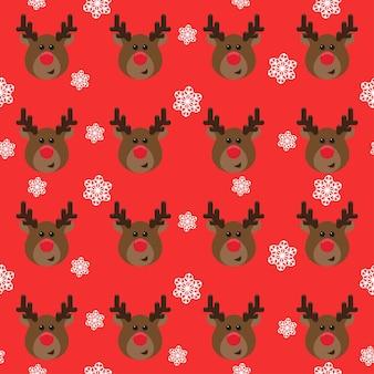 Nieuwjaar of kerstmis inpakpapier of stof naadloze patroon achtergrond