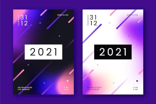 Nieuwjaar partij poster sjabloon