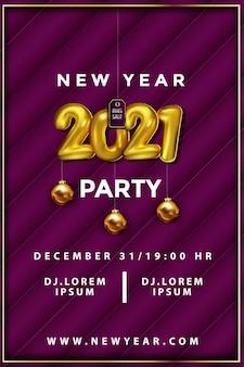 Nieuwjaar partij poster