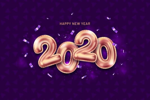 Nieuwjaar realistische ballonnen achtergrond