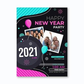 Nieuwjaar sjabloon folder
