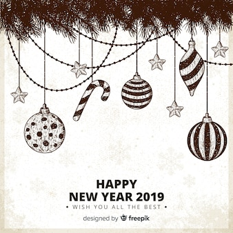 Nieuwjaar versleten decoratie achtergrond