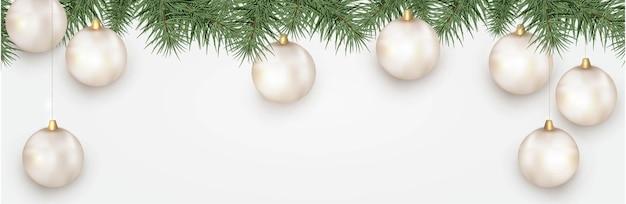 Nieuwjaar verticale vakantie banner met kerstboomtakken