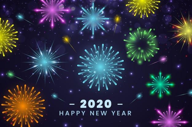 Nieuwjaar vuurwerk achtergrond
