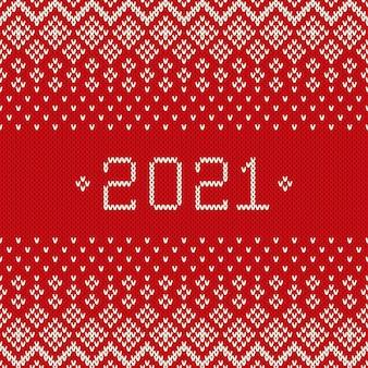 Nieuwjaar. wintervakantie naadloos gebreide achtergrond. wol gebreide textuur imitatie
