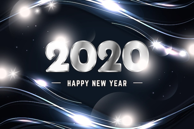 Nieuwjaar zilveren achtergrond
