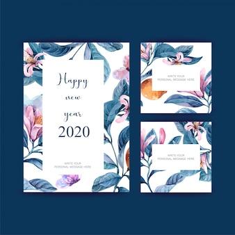 Nieuwjaaraffiche, briefkaart elegant voor decoratie
