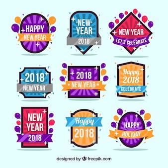 Nieuwjaars 2018-kentekensinzameling met zonnestraal