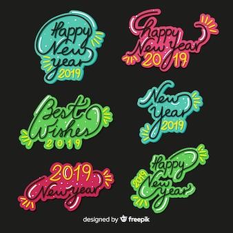 Nieuwjaars 2019-badgecollectie