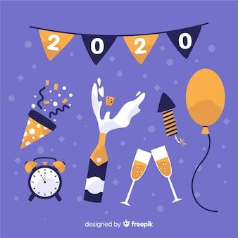 Nieuwjaars feestdecoratie met confetti