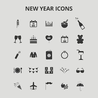 Nieuwjaars pictogrammen