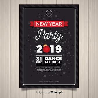 Nieuwjaarsfeest partij flyer 2019