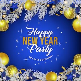 Nieuwjaarsfeest poster