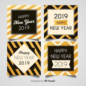 Nieuwjaarskaart met kaartenpakket