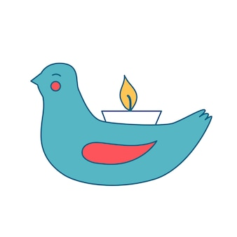 Nieuwjaarskandelaar in de vorm van een vogel