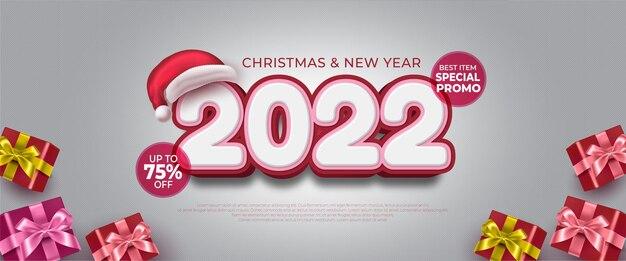 Nieuwjaarspromo tweeduizend tweeëntwintig bannerverkoop