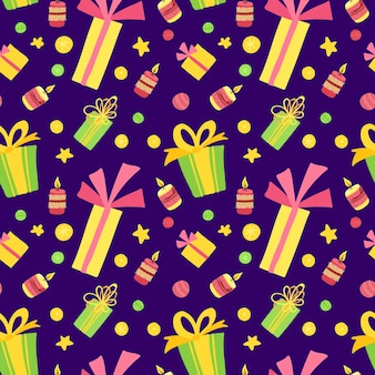 Nieuwjaarsvakantie, fest naadloos patroon.
