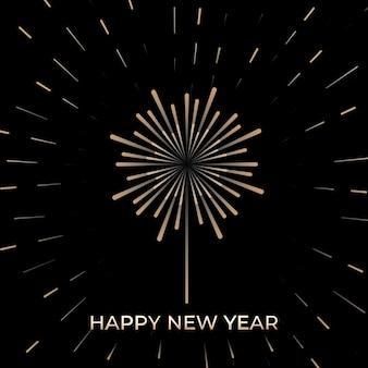 Nieuwjaarsviering met vuurwerk