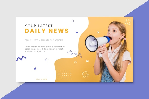 Nieuws banner blogsjabloon
