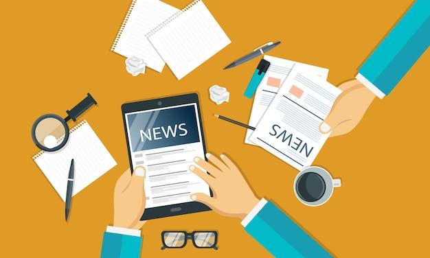 Nieuws en journalistiek concept