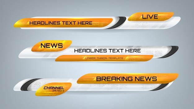 Nieuws grafische banners