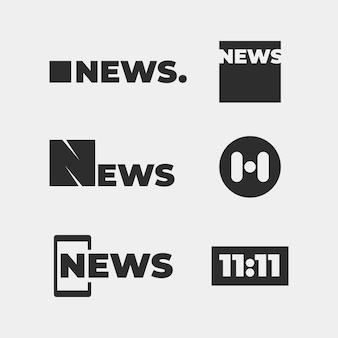 Nieuws logo collectie concept