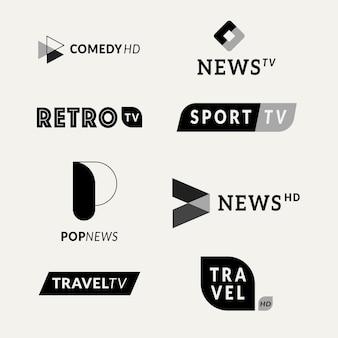 Nieuws logo collectie sjabloon