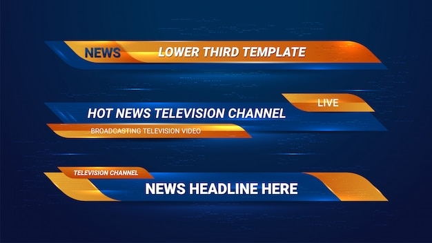 Nieuws lower thirds banner