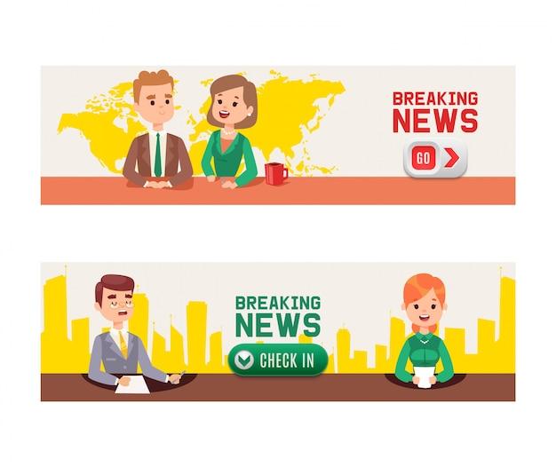 Nieuws op de televisie.