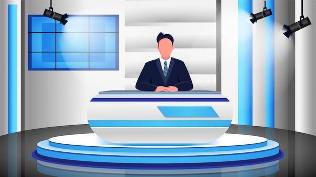 Nieuws programma egale kleur illustratie