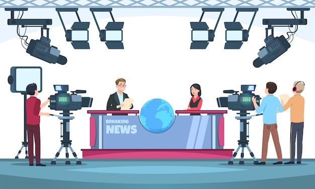 Nieuws tv-show studio