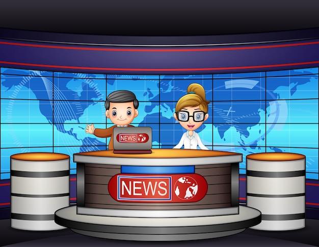 Nieuwsanker leefde op televisie