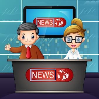 Nieuwsanker op televisie