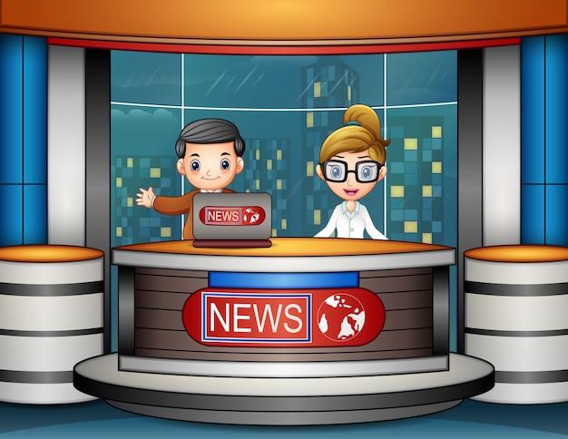 Nieuwsanker zendt uit op tv